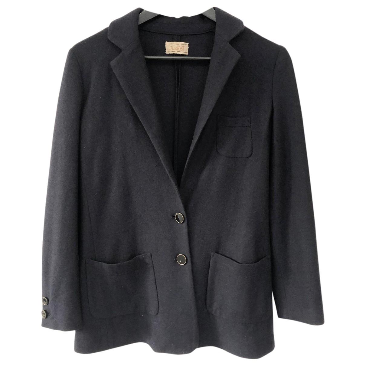 Forte_forte - Veste   pour femme en laine - bleu