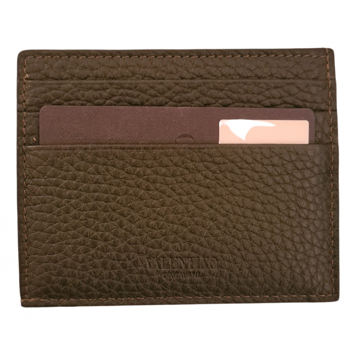Valentino Garavani \N Green Leather Small bag, wallet & cases for Men \N