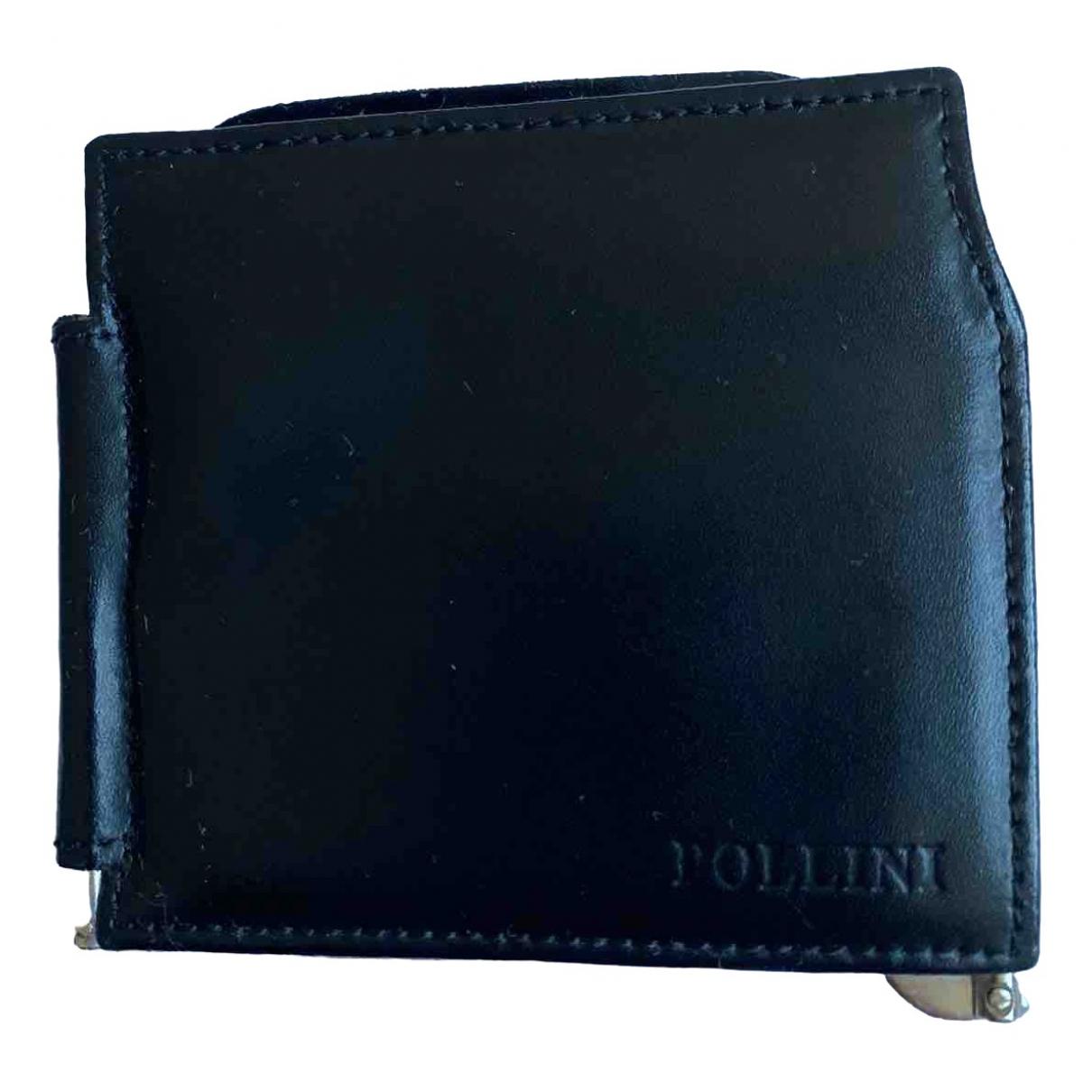 Pollini - Petite maroquinerie   pour homme en cuir - noir