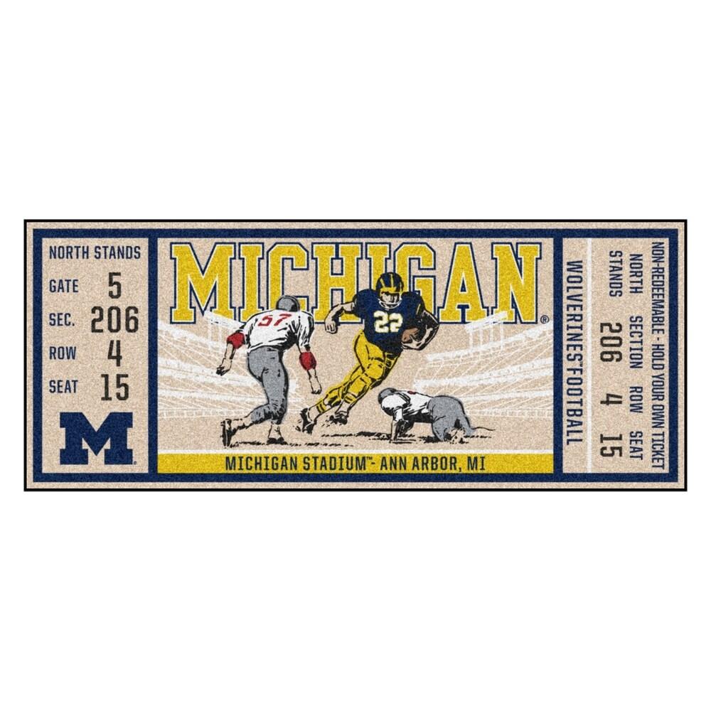 University of Michigan Ticket Runner 30x72