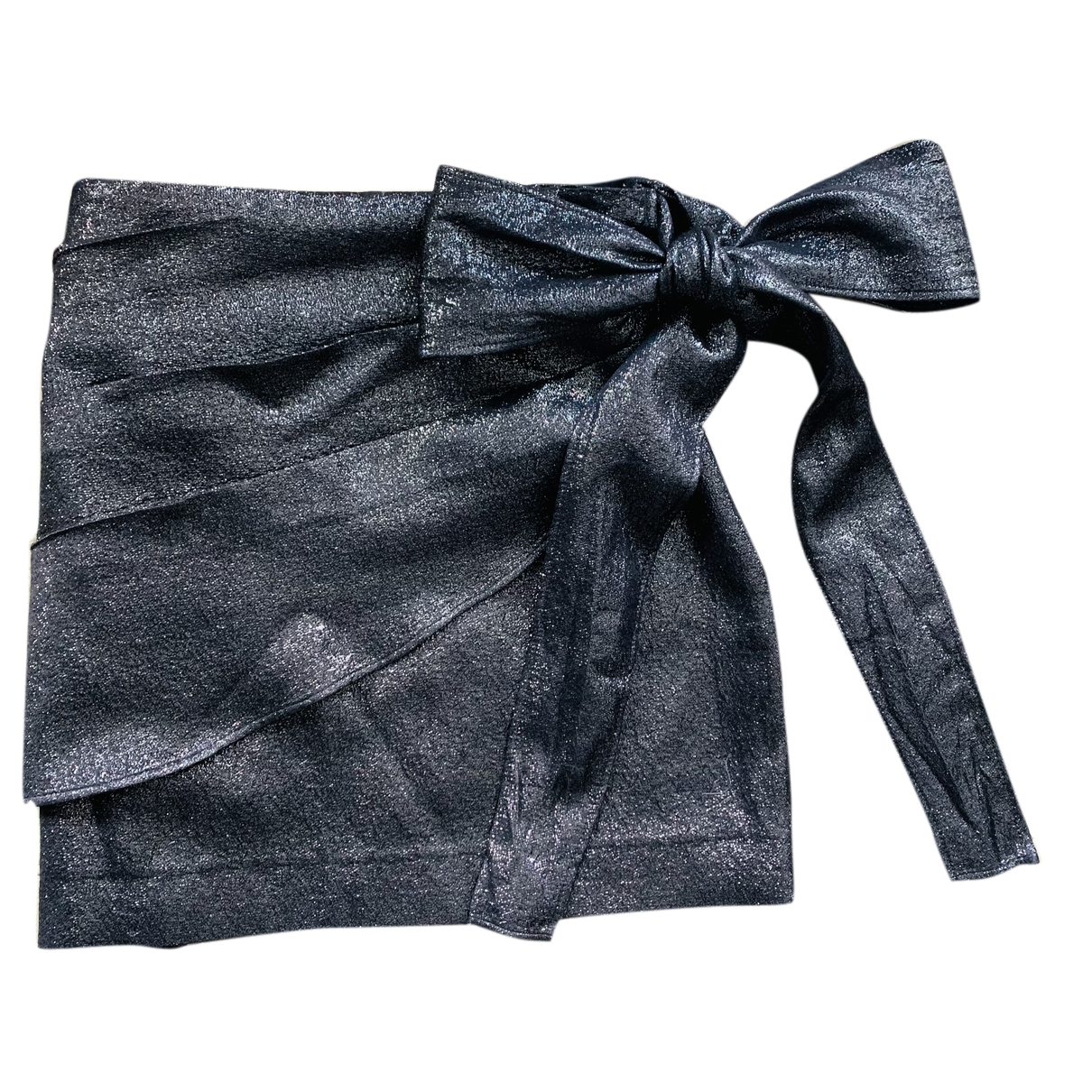 Sandro - Jupe   pour femme en coton - metallise