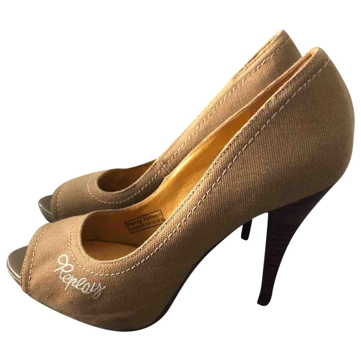 Replay \N Camel Cloth Heels for Women 8 US