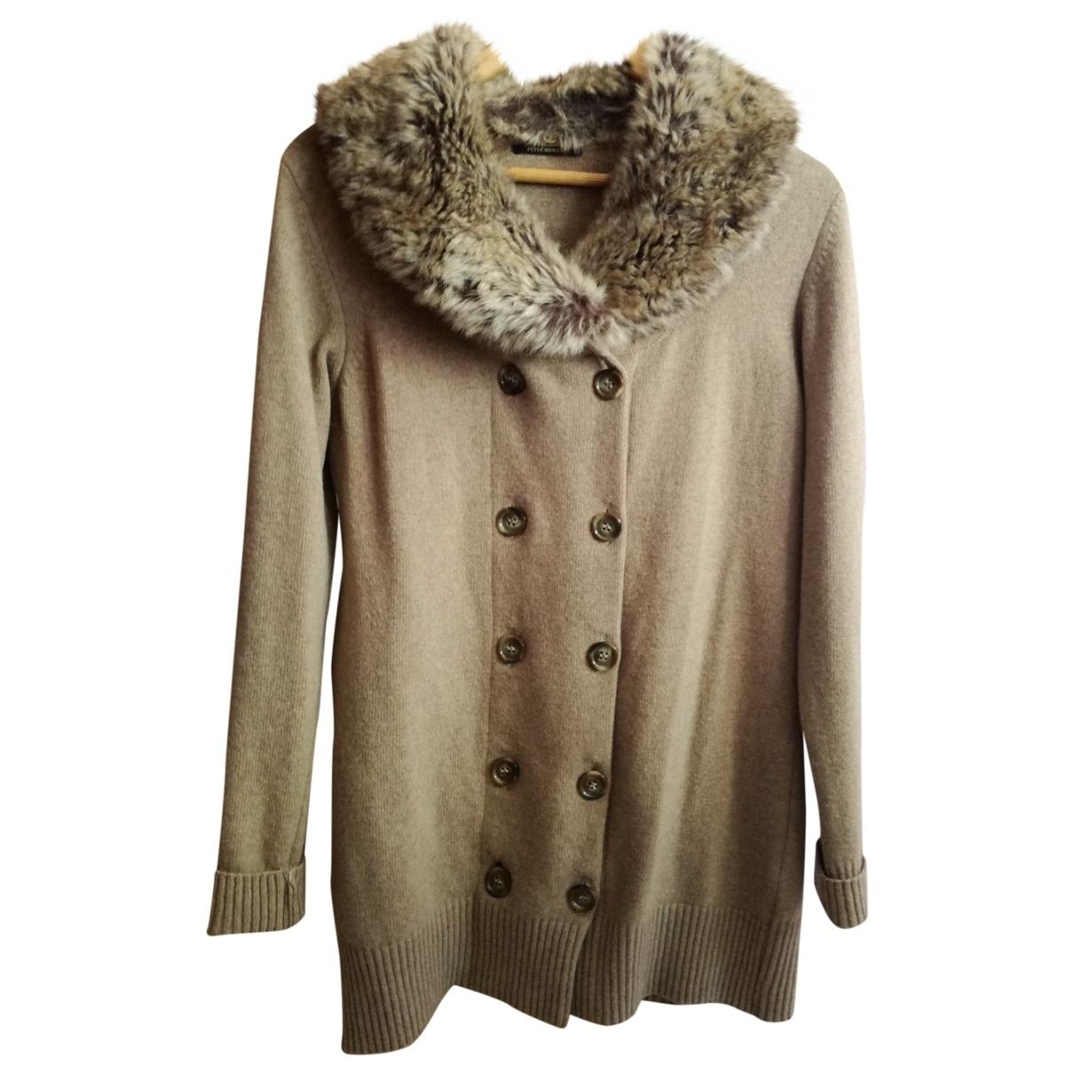 - Veste   pour femme en laine - camel