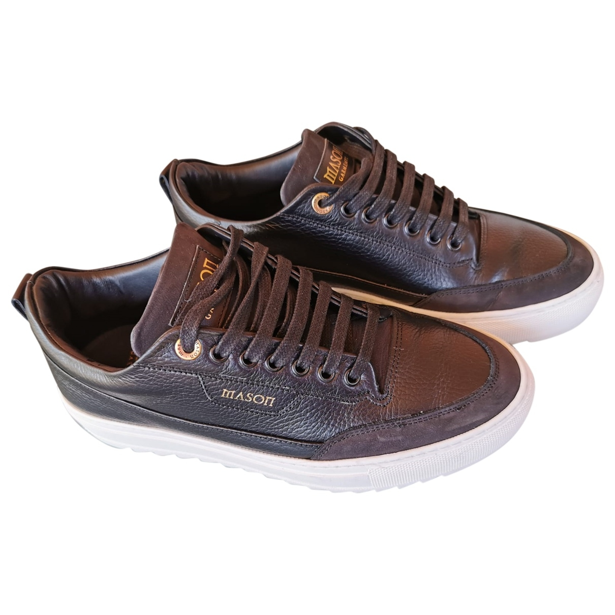 Mason Garments \N Black Leather Trainers for Men 42 IT