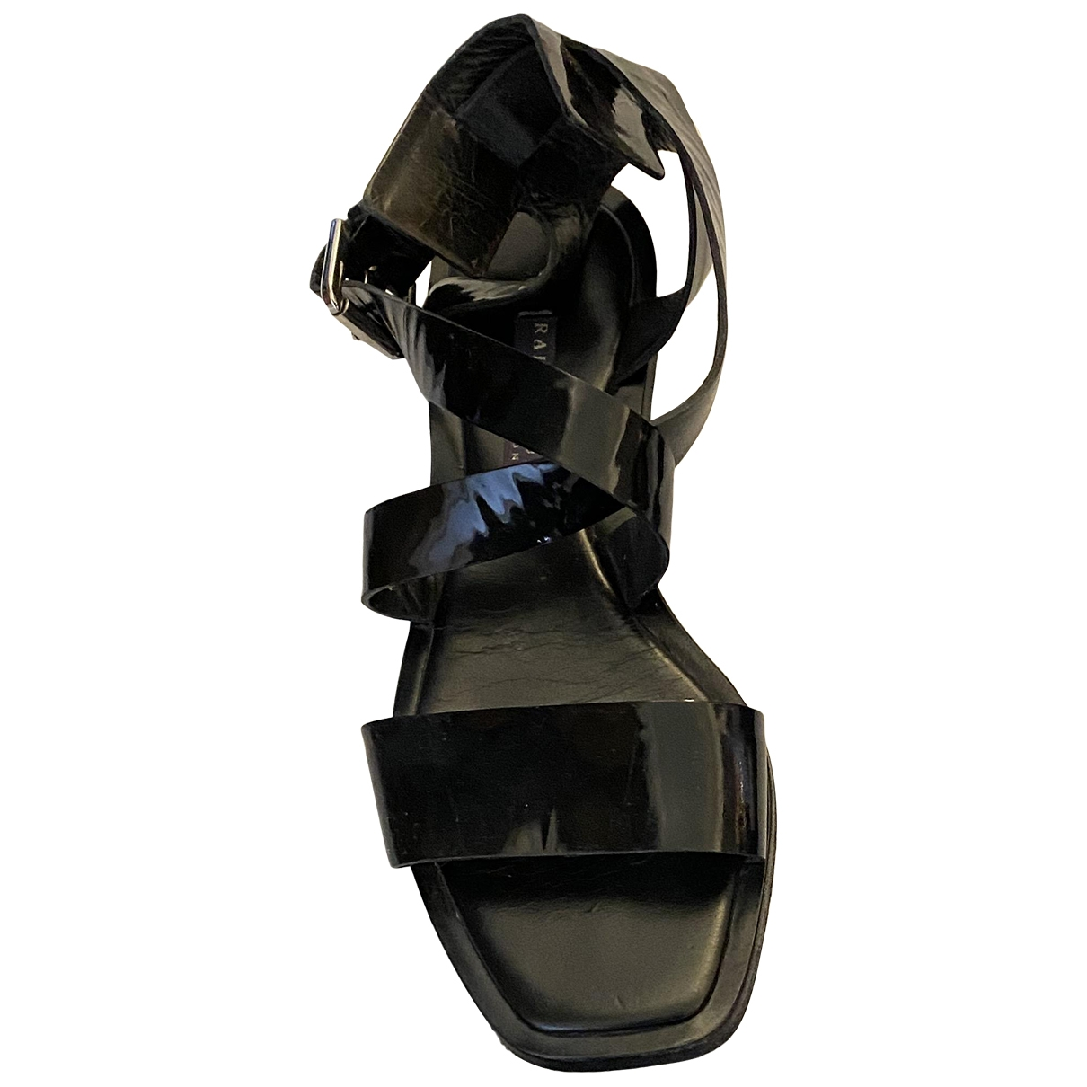 Ralph Lauren Collection - Sandales   pour femme en cuir verni - noir