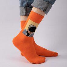 Guys Figure Graphic Socks