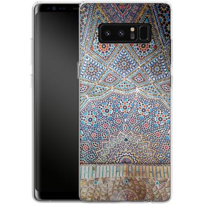 Samsung Galaxy Note 8 Silikon Handyhuelle - Iranian Mosaic von Omid Scheybani