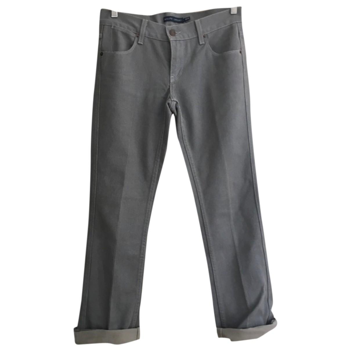 Ralph Lauren \N Grey Denim - Jeans Jeans for Women 36 FR
