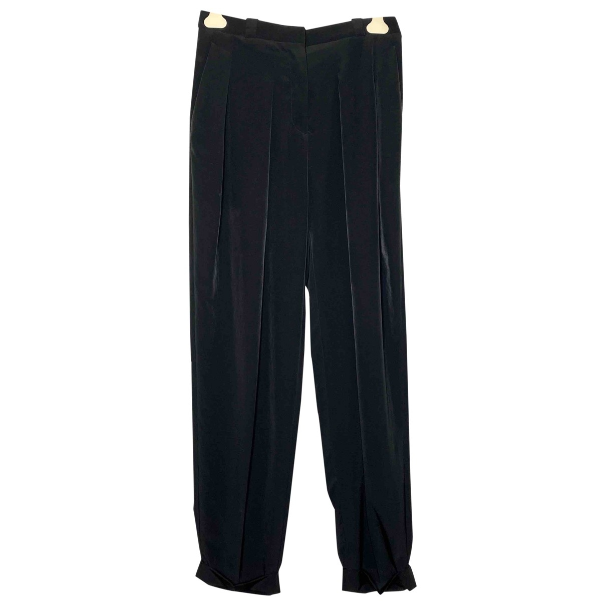 Maison Martin Margiela \N Black Trousers for Women 46 IT