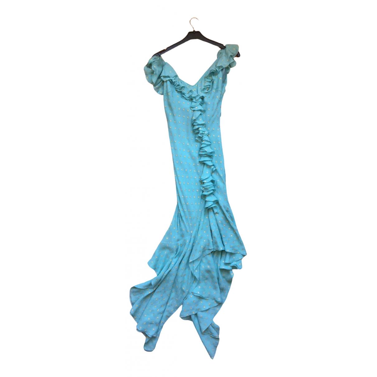 John Galliano \N Kleid in  Blau Seide
