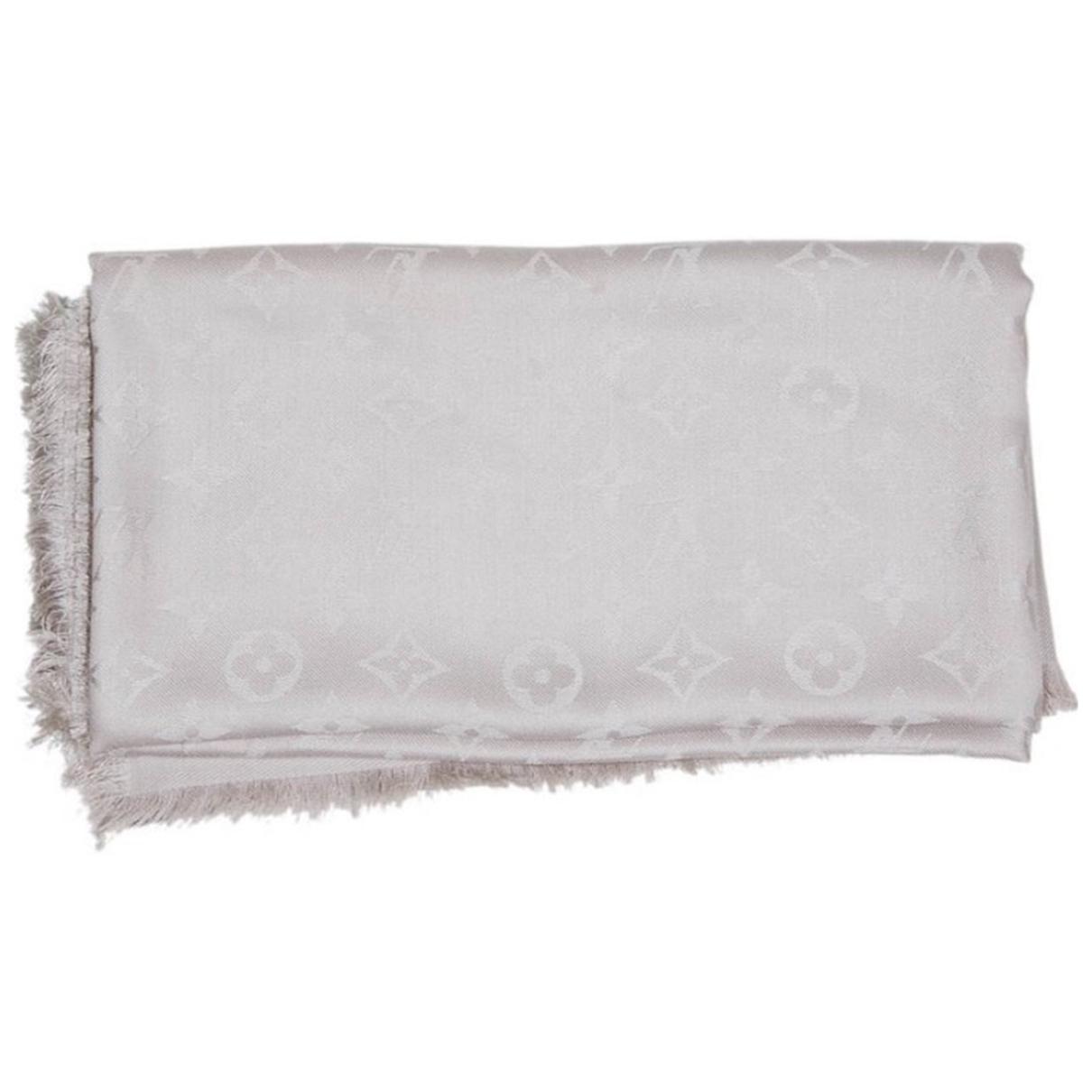 Louis Vuitton Chale Monogram Schal in  Ecru Seide