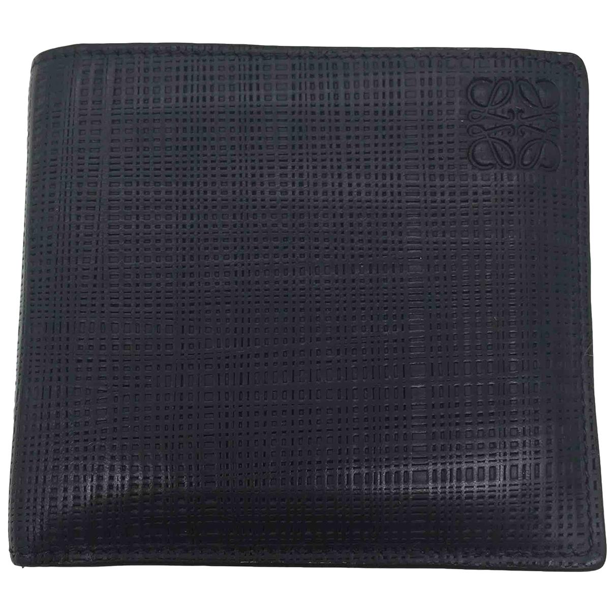Loewe \N Black Leather Small bag, wallet & cases for Men \N