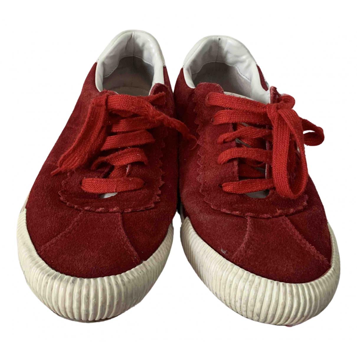 Bimba Y Lola \N Sneakers in  Rot Veloursleder