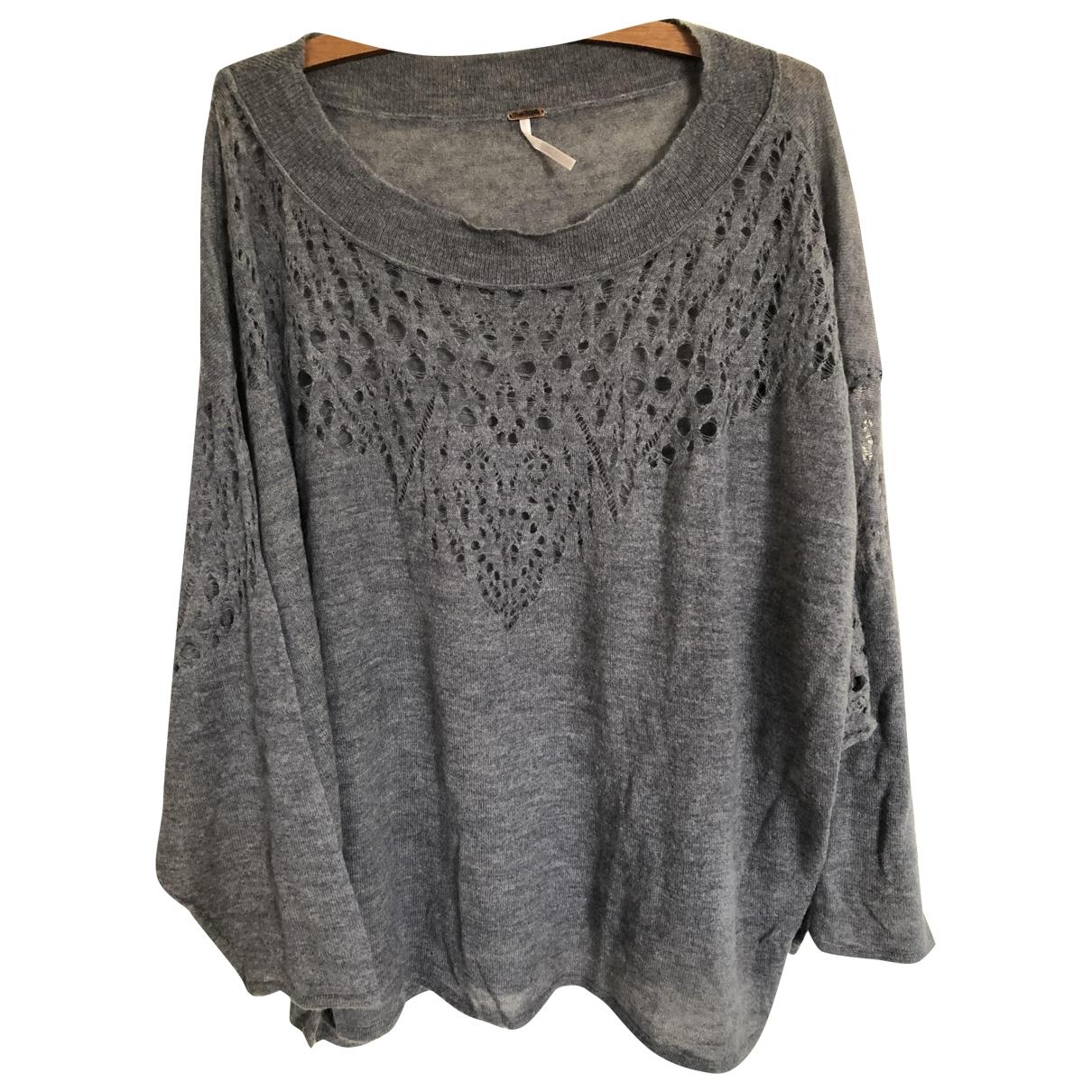 Free People - Pull   pour femme en laine - gris