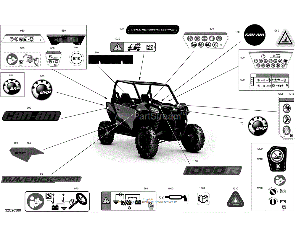 Can-AM OEM Warning Decal, Death And Injuries