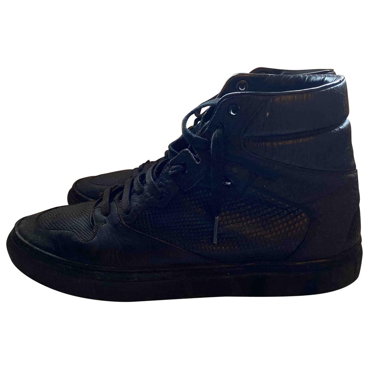 Balenciaga \N Black Leather Trainers for Men 41 EU
