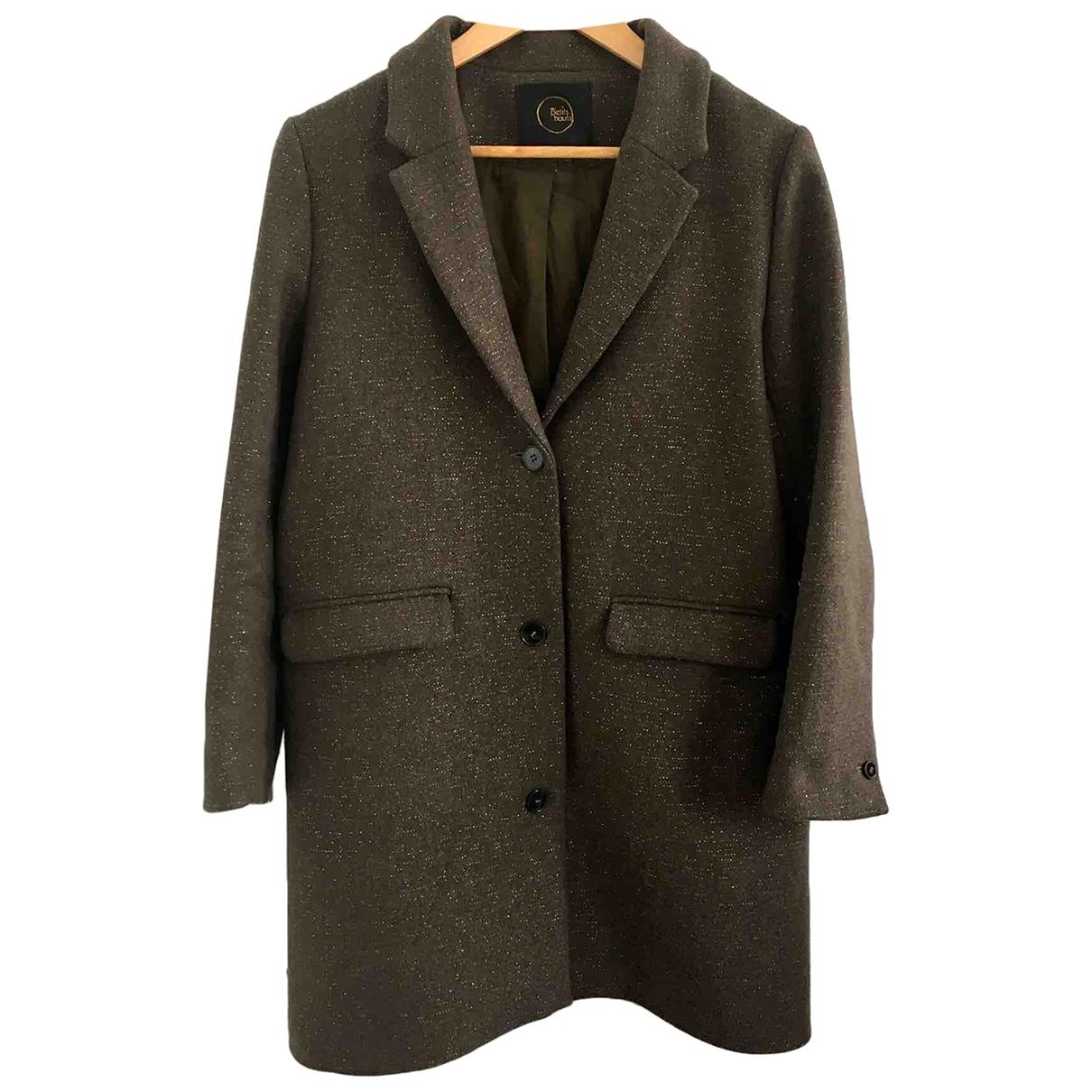 Des Petits Hauts \N Khaki Wool coat for Women 1 0-5