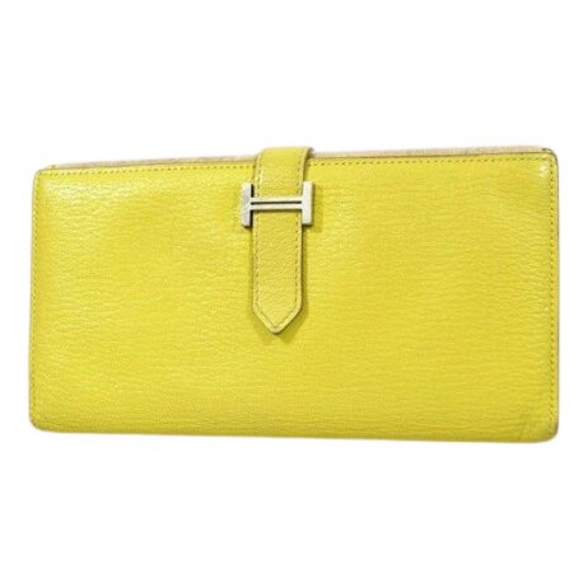 Hermès Béarn Yellow Leather wallet for Women N
