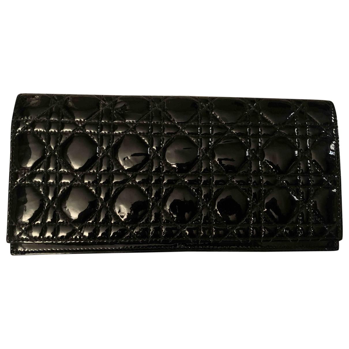 Dior - Pochette Lady Dior pour femme en cuir verni - noir