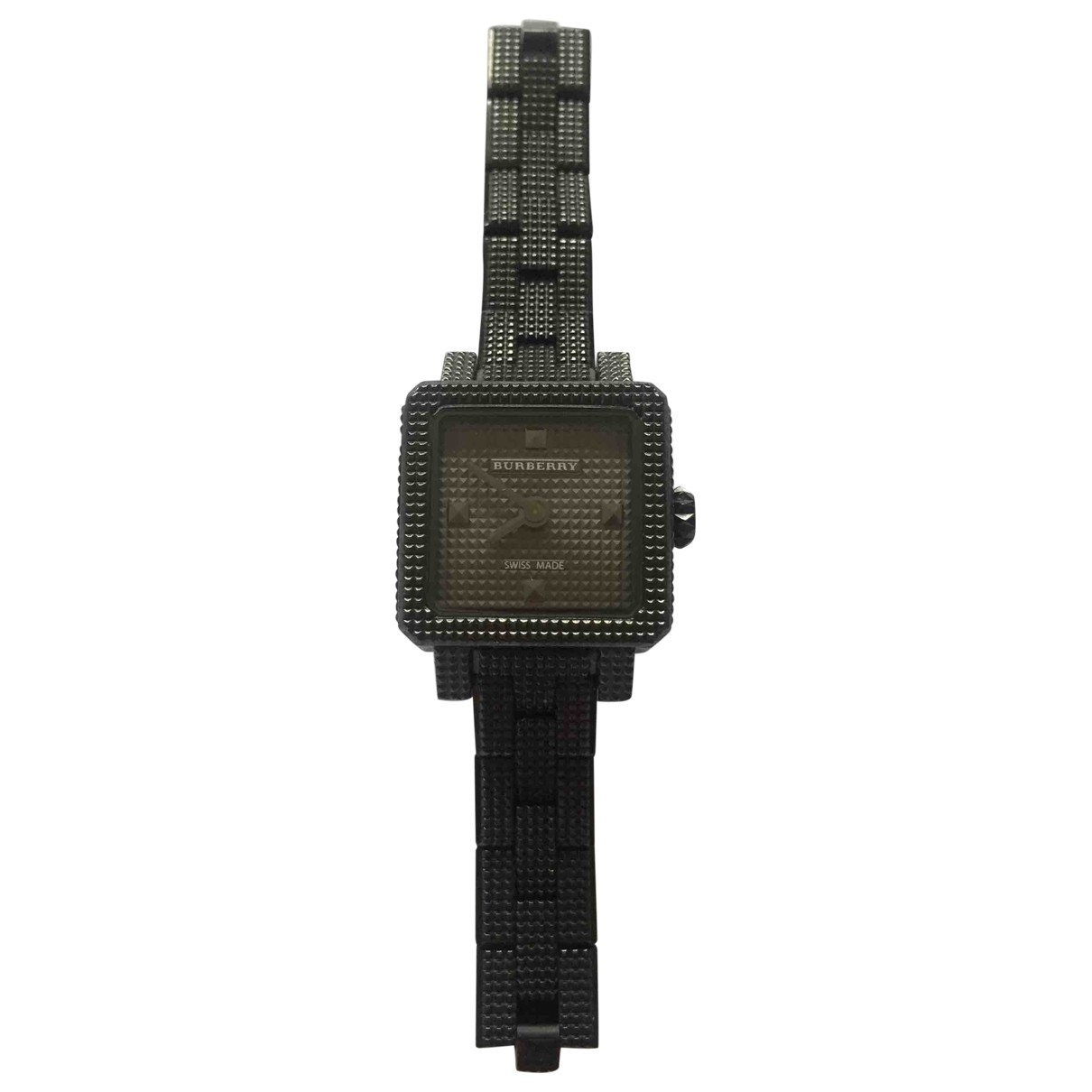 Burberry \N Black Steel watch for Women \N