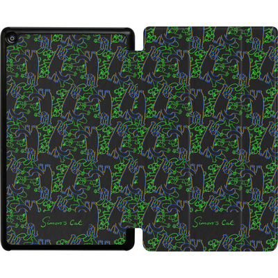 Amazon Fire HD 8 (2018) Tablet Smart Case - Simon´s Cat Black and Green Pattern von Simons Cat