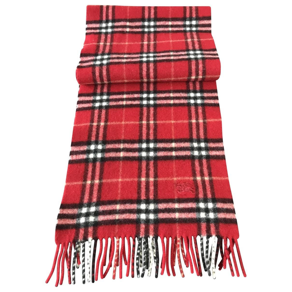 Burberry \N Red Wool scarf & pocket squares for Men \N
