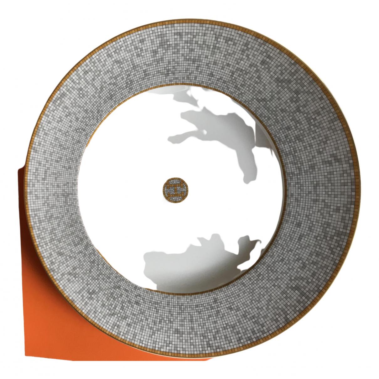 Hermes - Arts de la table Mosaique au 24 pour lifestyle en porcelaine - blanc