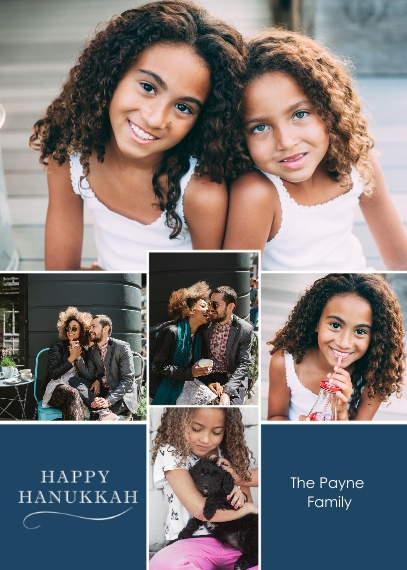 Hanukkah Photo Cards 5x7 Cards, Premium Cardstock 120lb, Card & Stationery -Hanukkah Collage