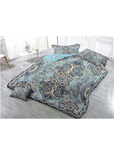 Jacquard Pattern Wear-resistant Breathable High Quality 60s Cotton 4-Piece 3D Bedding Sets