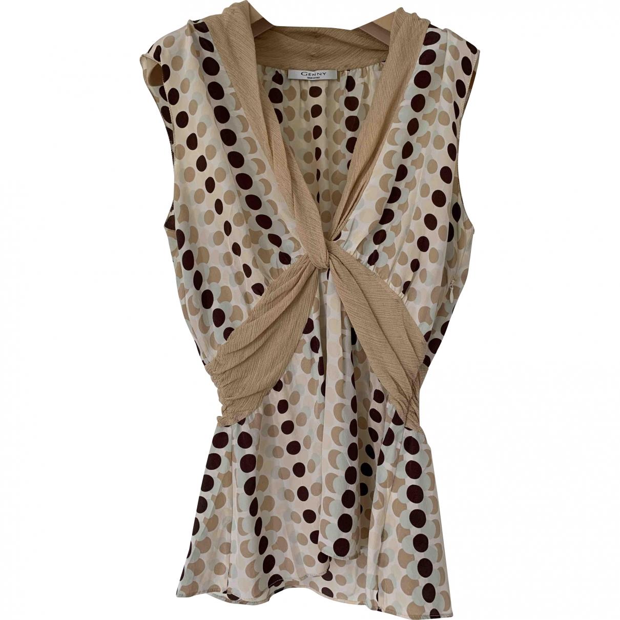 Genny \N Beige Silk  top for Women 46 IT