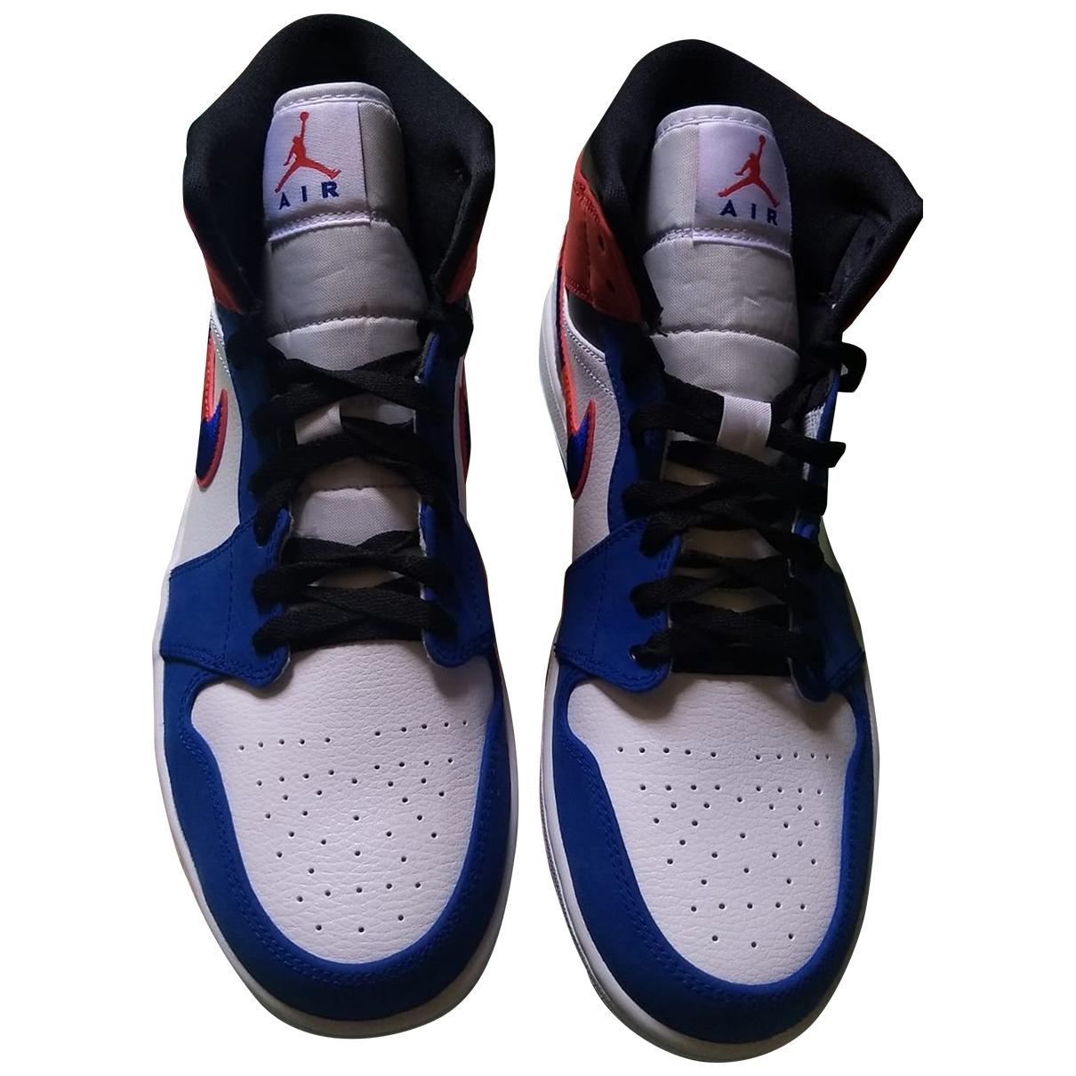 Jordan - Baskets Air Jordan 1  pour homme en cuir - blanc