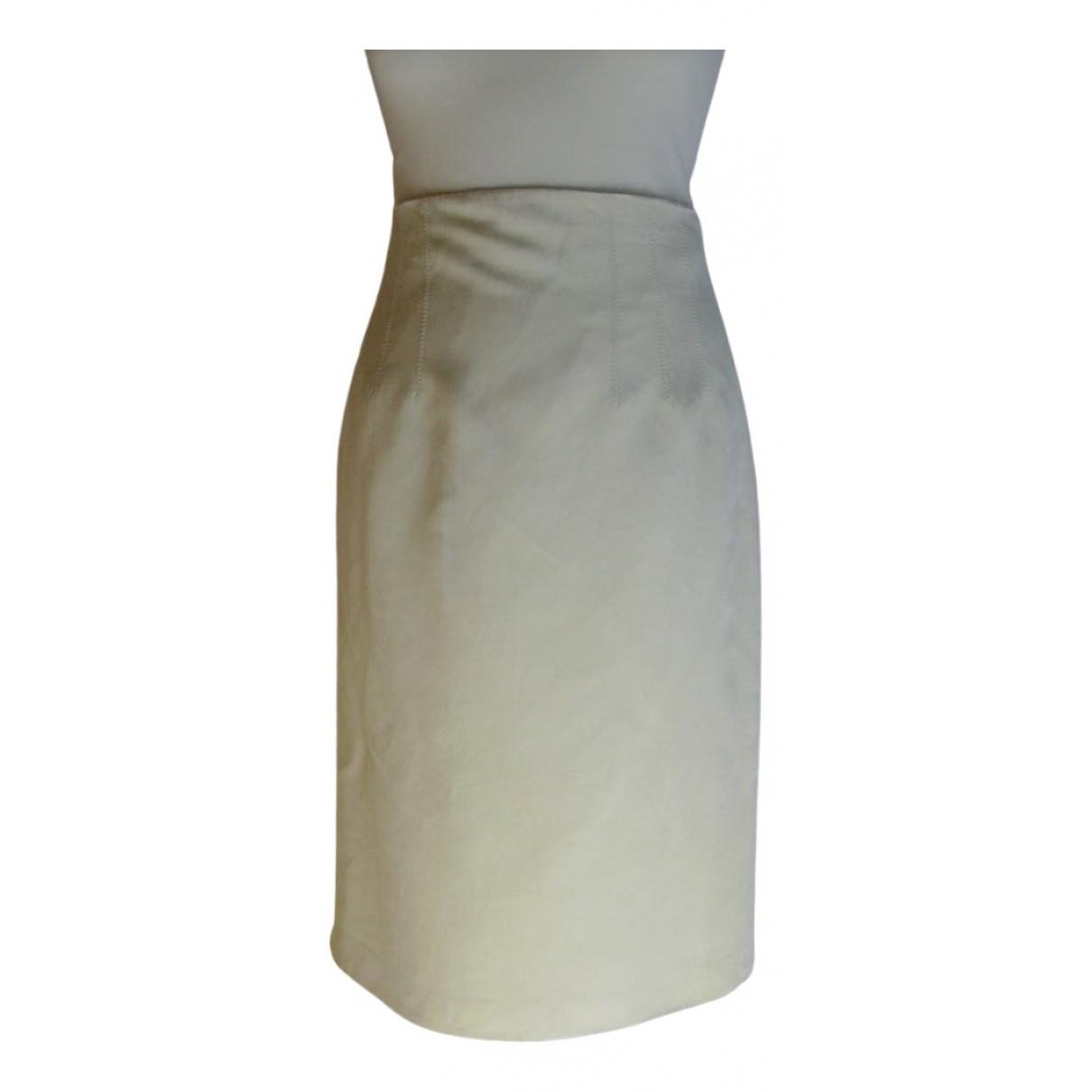 Jean Paul Gaultier - Jupe   pour femme en soie - jaune