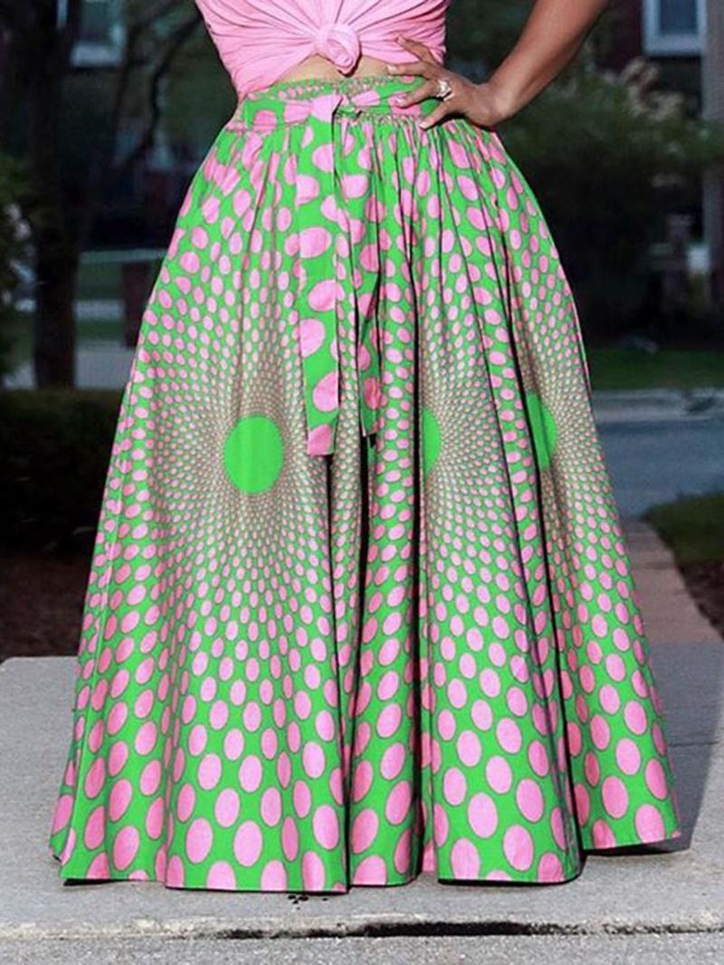 Ericdress Floral Print Floor-Length Office Lady Maxi Skirt