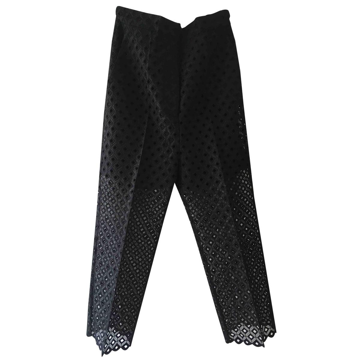 Stella Mccartney \N Black Cotton Trousers for Women 38 FR