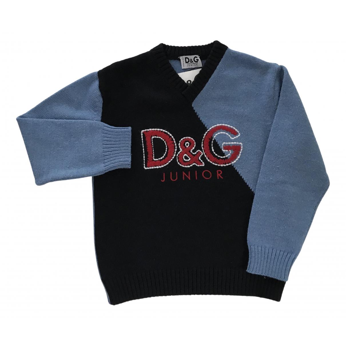 Dolce & Gabbana - Pull   pour enfant en laine - bleu