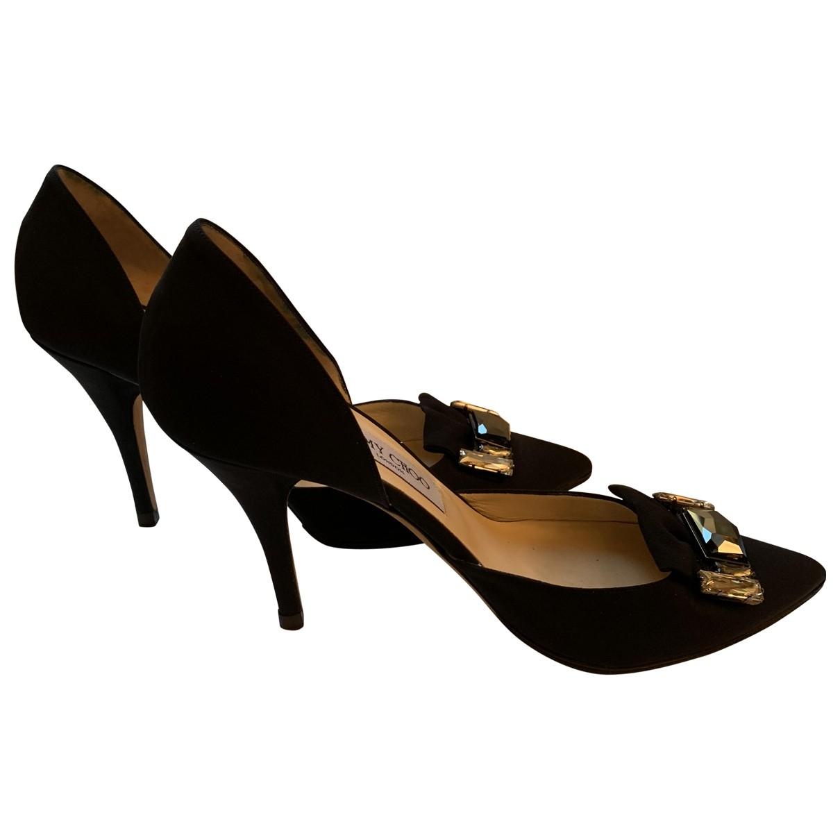 Jimmy Choo \N Black Cloth Heels for Women 39 EU