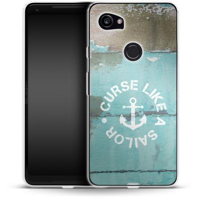 Google Pixel 2 XL Silikon Handyhuelle - Curse Like A Sailor von Statements