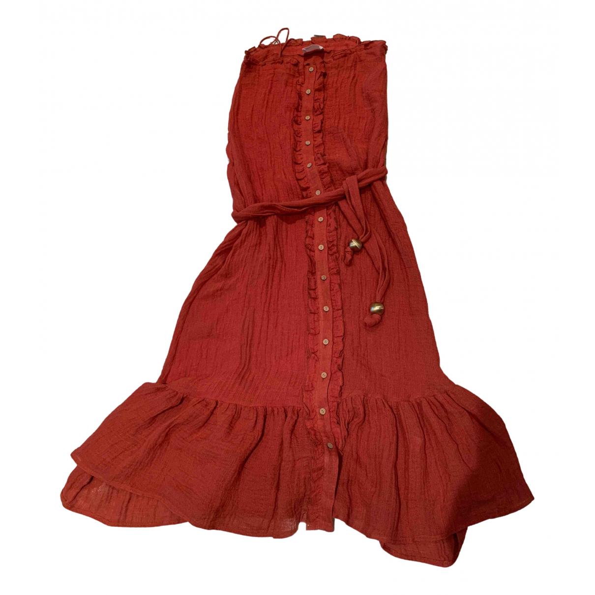 Lisa Marie Fernandez \N Kleid in  Orange Leinen