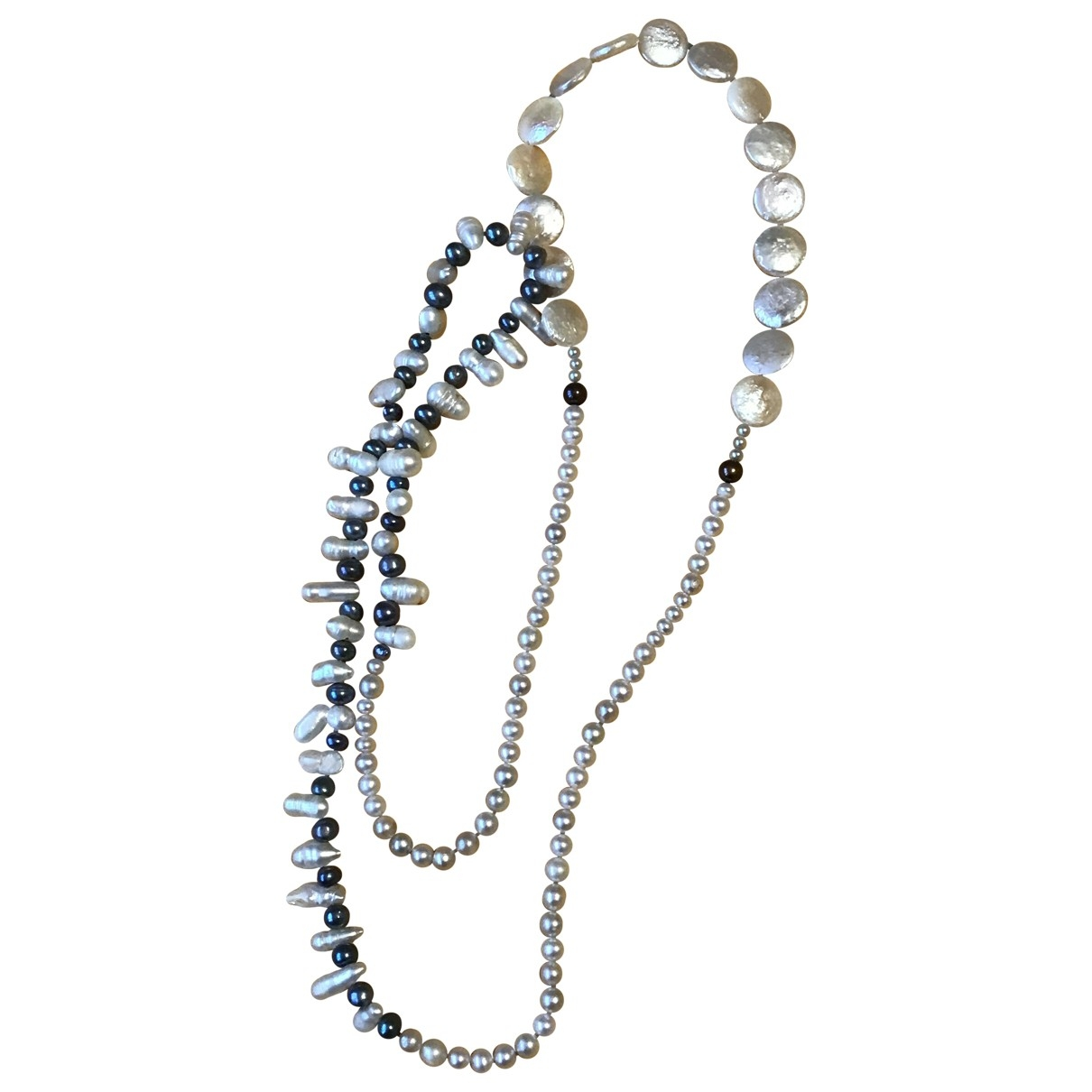 Non Signé / Unsigned \N Pearls Long necklace for Women \N