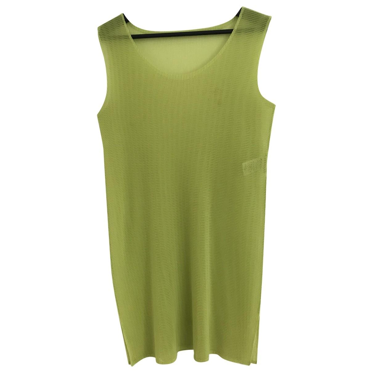 Pleats Please - Top   pour femme - vert