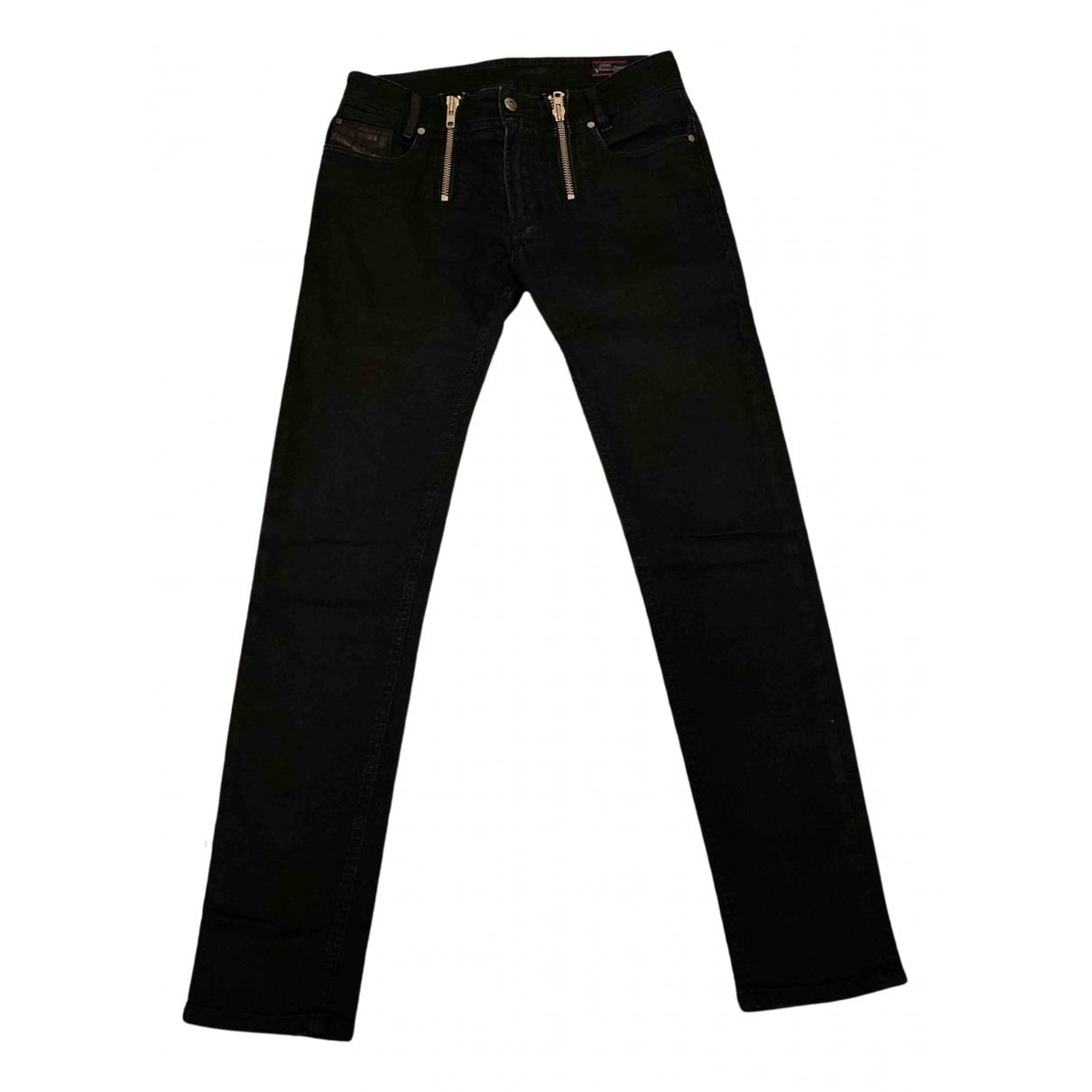 Diesel N Black Cotton - elasthane Jeans for Men 28 US
