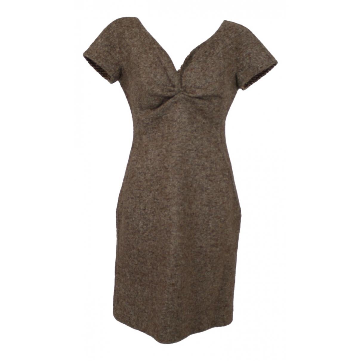 Dior N Brown Wool dress for Women 42 FR