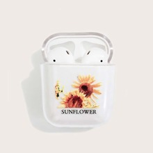 AirPods Schutzhuelle mit Sonnenblume Muster