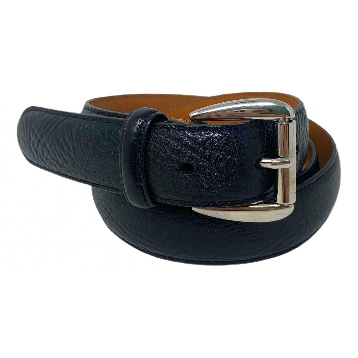 Polo Ralph Lauren \N Guertel in  Schwarz Leder