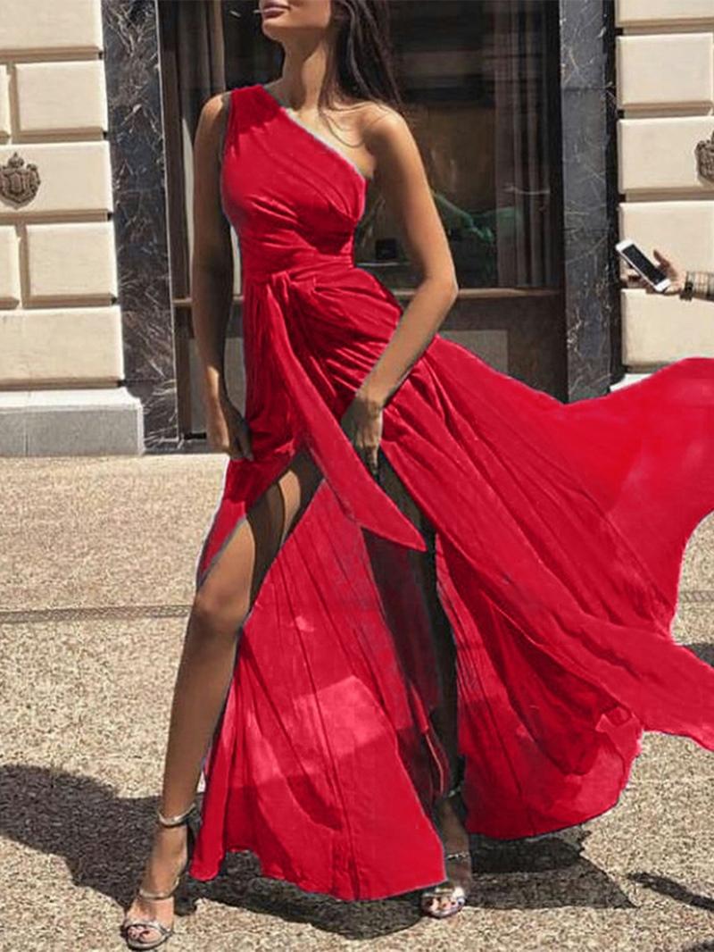 Ericdress Floor-Length Sleeveless Split Pullover Expansion Dress