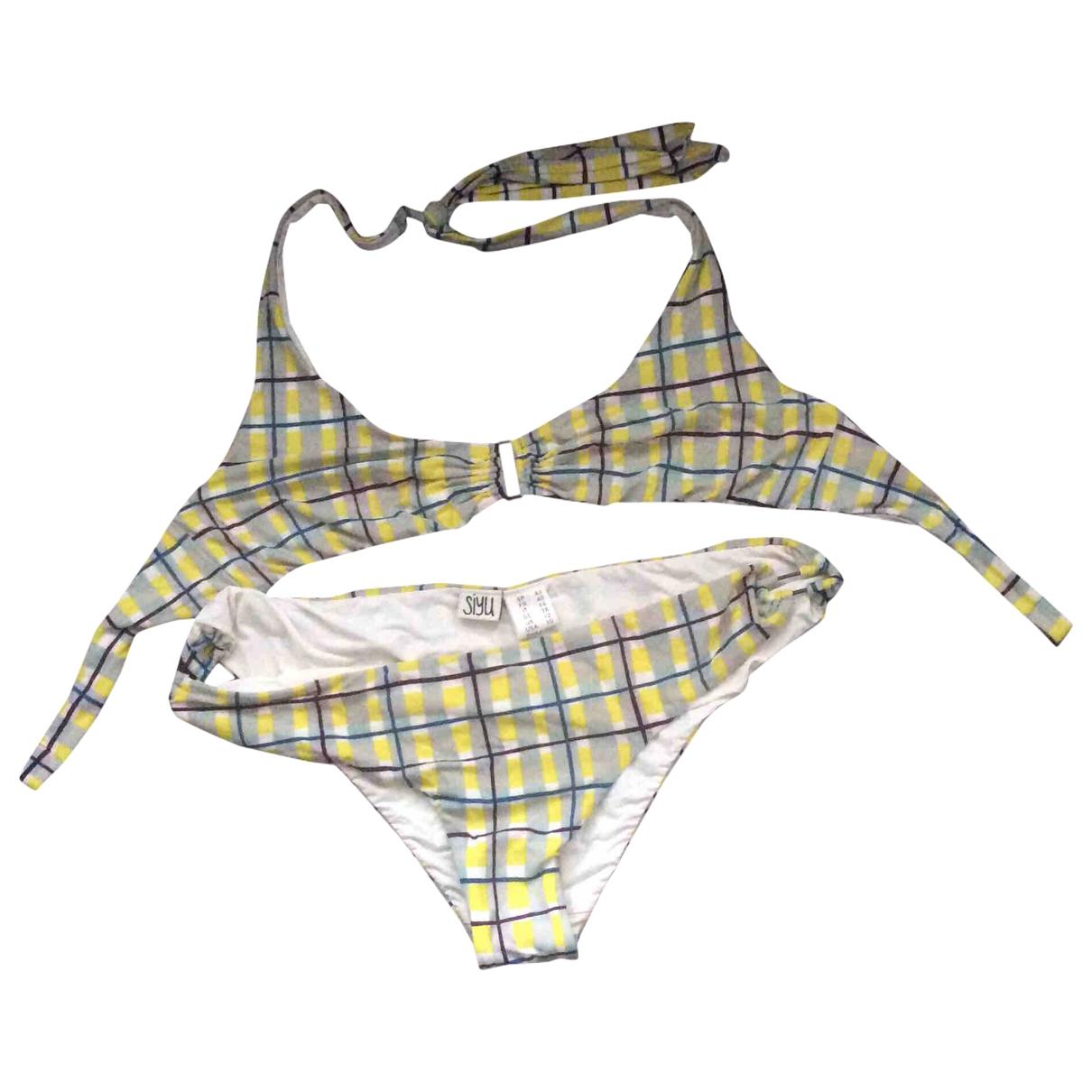 Siyu \N Badeanzug in  Bunt Polyester