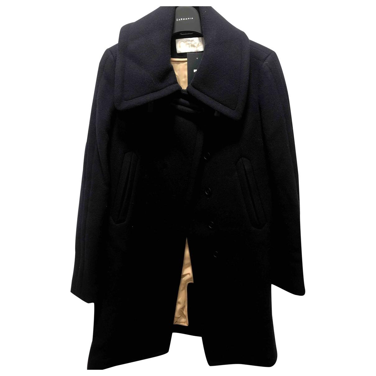 Chloe - Manteau   pour femme en laine - marine