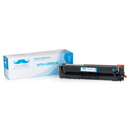 Compatible HP 202A CF501A Cyan Toner Cartridge - Moustache@
