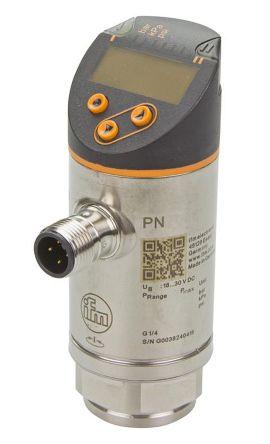 ifm electronic Pressure Sensor for Fluid , 400bar Max Pressure Reading 2x PNP/NPN-NO/NC