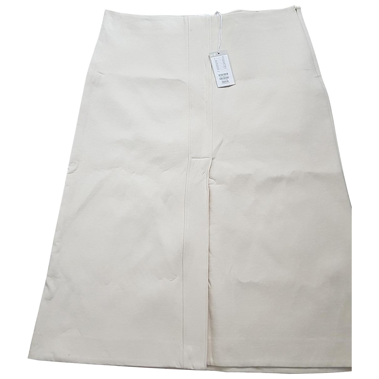 Cos - Jupe   pour femme en coton - ecru